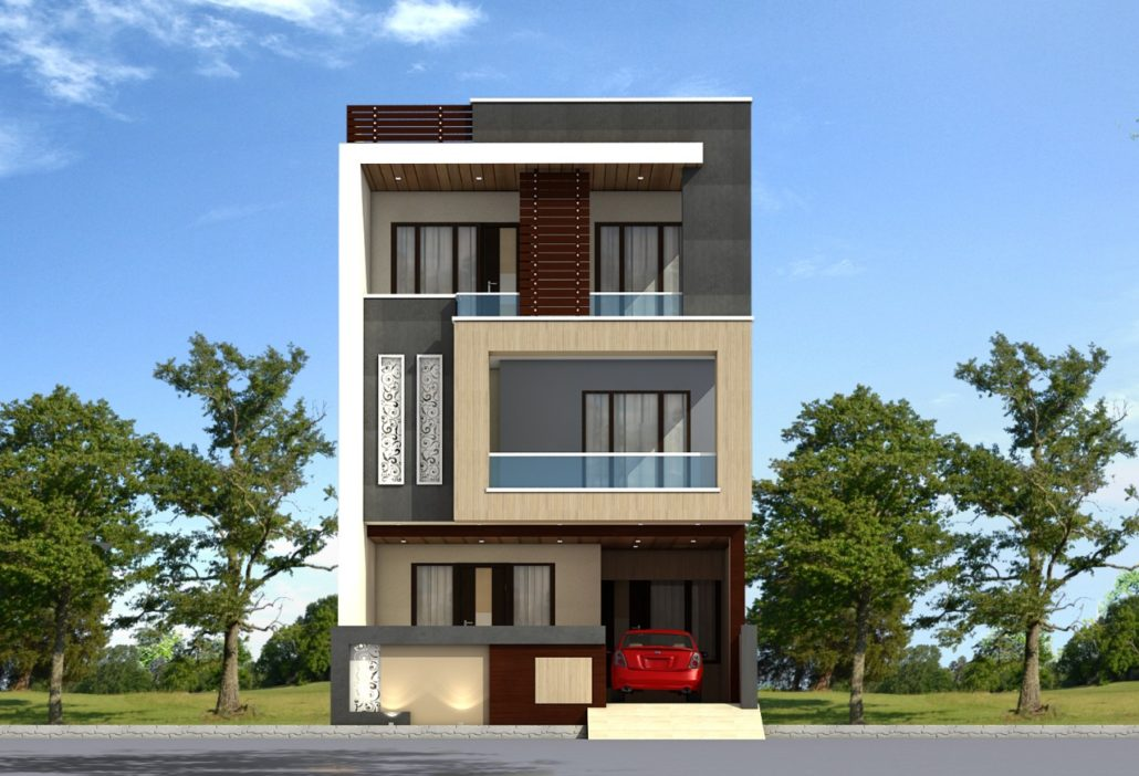 esidence at Bangalore 1030x702 - View India Small Commercial House Design Pics