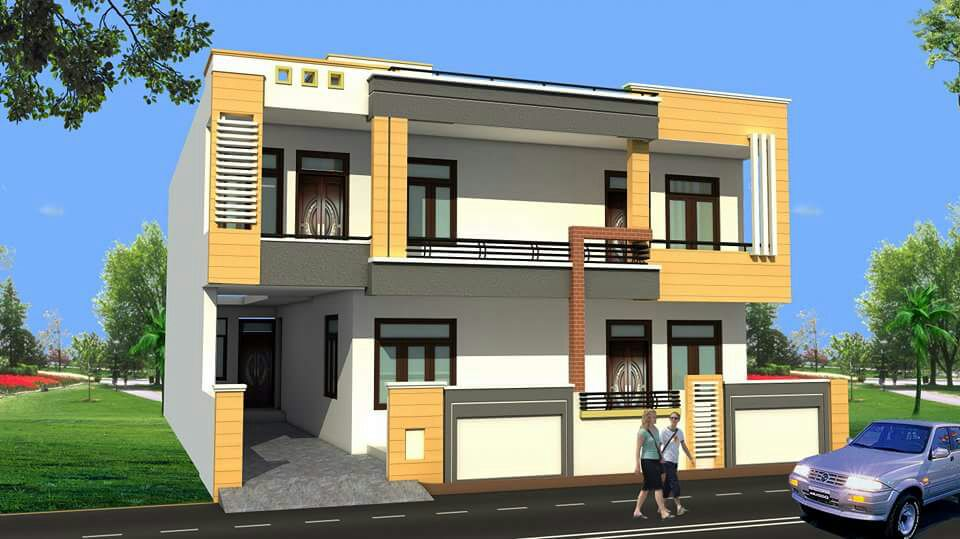 25x60 House Plan in india