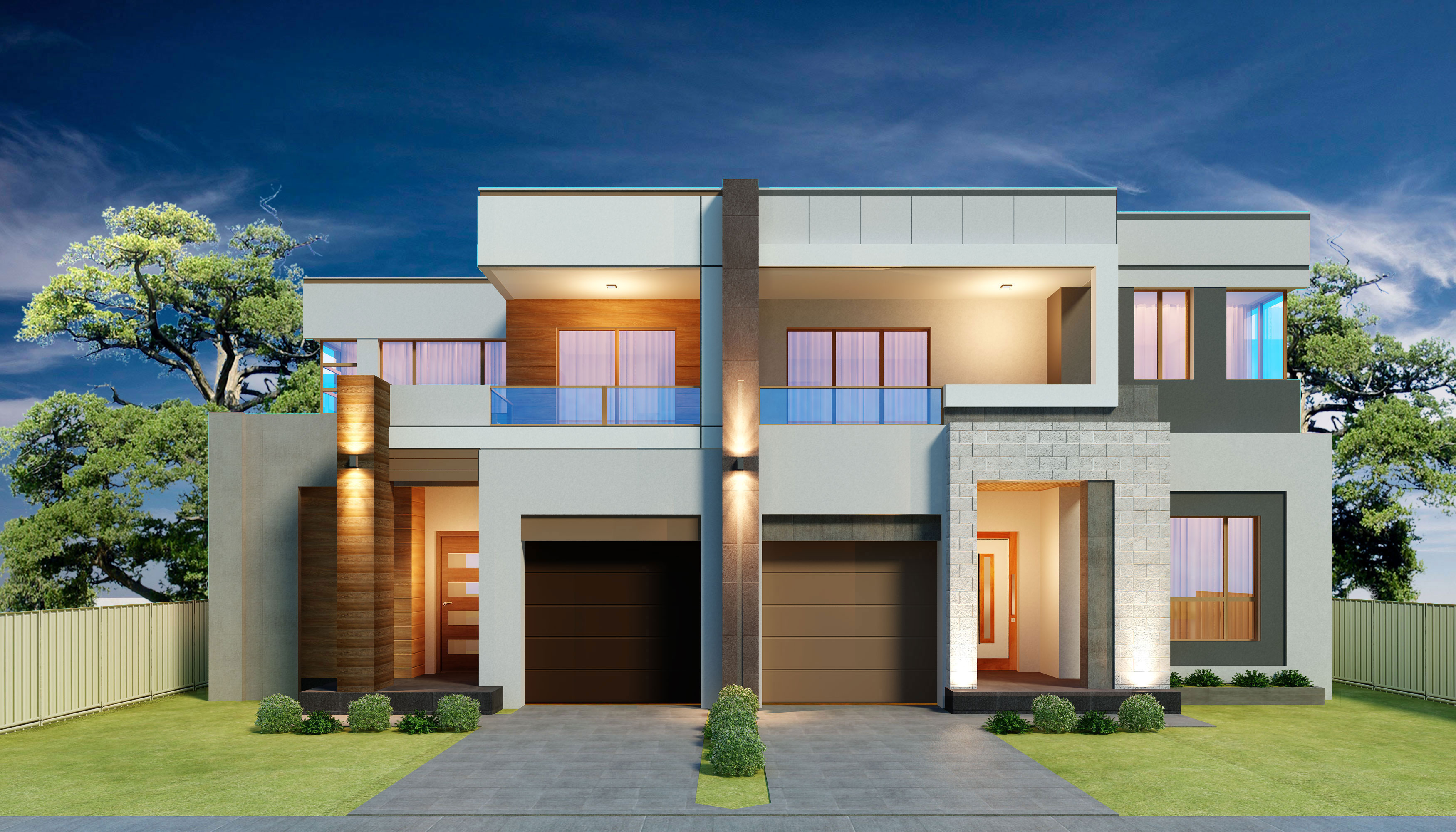 Brothers Front facade - View Indian Style Small Duplex House Design In India Gif
