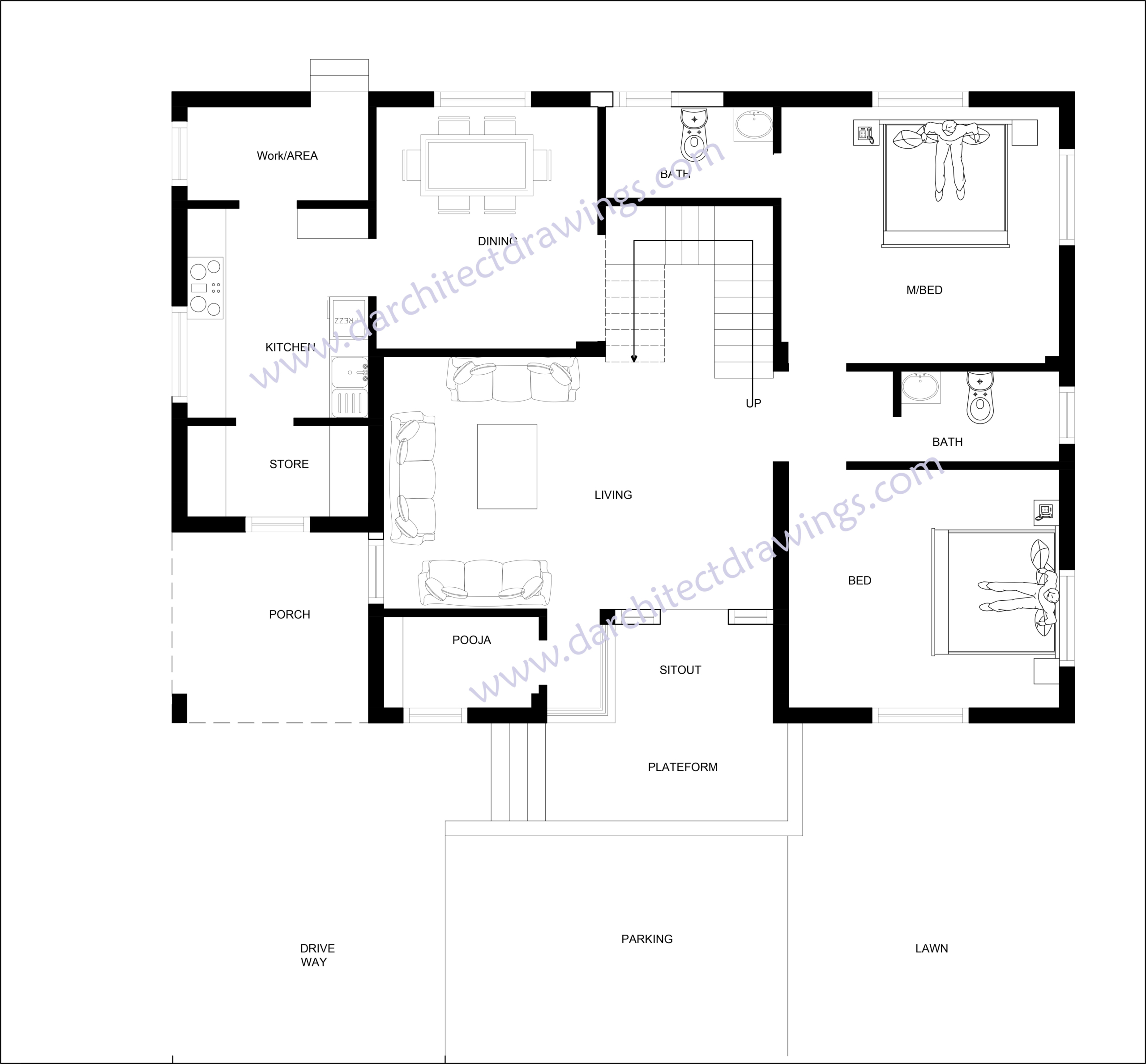 50*40 house map